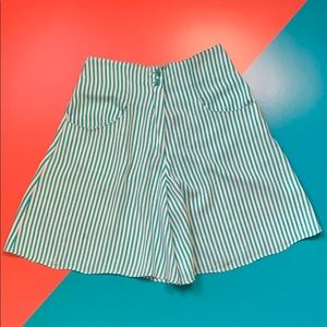 Outback Red Striped High Waist Shorts